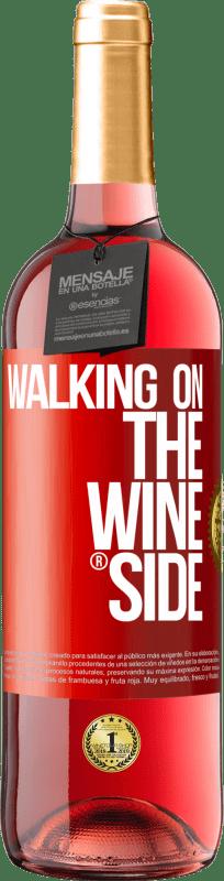 24,95 € Envío gratis | Vino Rosado Edición ROSÉ Walking on the Wine Side® Etiqueta Roja. Etiqueta personalizable Vino joven Cosecha 2020 Tempranillo