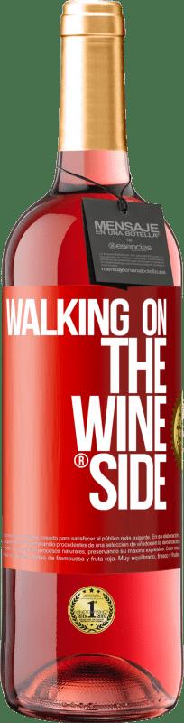 24,95 € Kostenloser Versand | Roséwein ROSÉ Ausgabe Walking on the Wine Side® Rote Markierung. Anpassbares Etikett Junger Wein Ernte 2020 Tempranillo