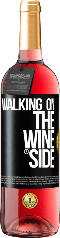 29,95 € Free Shipping | Rosé Wine ROSÉ Edition Walking on the Wine Side® Black Label. Customizable label D.O. Cigales Young wine Harvest 2020 Spain Tempranillo