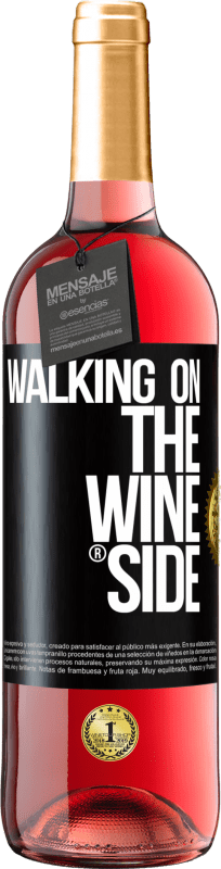 29,95 € Free Shipping | Rosé Wine ROSÉ Edition Walking on the Wine Side® Black Label. Customizable label Young wine Harvest 2020 Tempranillo