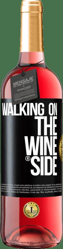 24,95 € Envío gratis | Vino Rosado Edición ROSÉ Walking on the Wine Side® Etiqueta Negra. Etiqueta personalizable Vino joven Cosecha 2020 Tempranillo