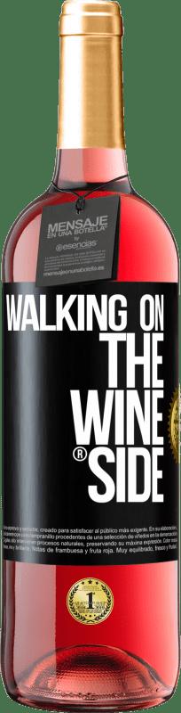 24,95 € Kostenloser Versand | Roséwein ROSÉ Ausgabe Walking on the Wine Side® Schwarzes Etikett. Anpassbares Etikett Junger Wein Ernte 2020 Tempranillo