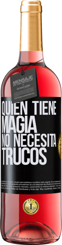 29,95 € Free Shipping | Rosé Wine ROSÉ Edition Whoever has magic does not need tricks Black Label. Customizable label Young wine Harvest 2020 Tempranillo