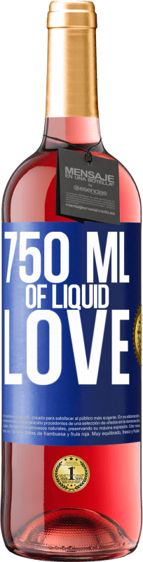 24,95 € Free Shipping | Rosé Wine ROSÉ Edition 750 ml of liquid love Blue Label. Customizable label Young wine Harvest 2020 Tempranillo