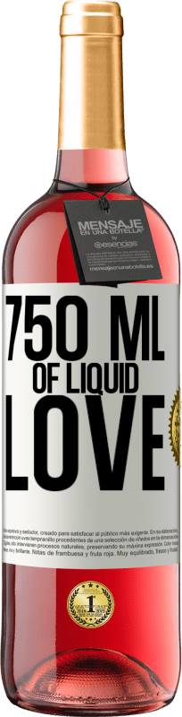 24,95 € Free Shipping | Rosé Wine ROSÉ Edition 750 ml of liquid love White Label. Customizable label Young wine Harvest 2020 Tempranillo
