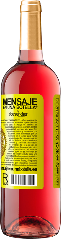 18,95 € Free Shipping | Rosé Wine Walking on the Wine Side® Yellow Label. Customized label D.O. Cigales Young wine Harvest 2019 Spain Tempranillo