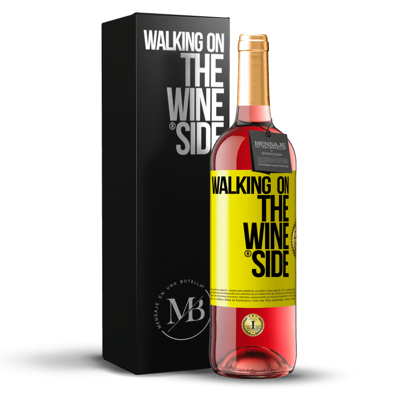 29,95 € Free Shipping | Rosé Wine ROSÉ Edition Walking on the Wine Side® Yellow Label. Customizable label D.O. Cigales Young wine Harvest 2020 Spain Tempranillo