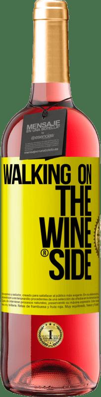 24,95 € Envío gratis | Vino Rosado Edición ROSÉ Walking on the Wine Side® Etiqueta Amarilla. Etiqueta personalizable Vino joven Cosecha 2020 Tempranillo