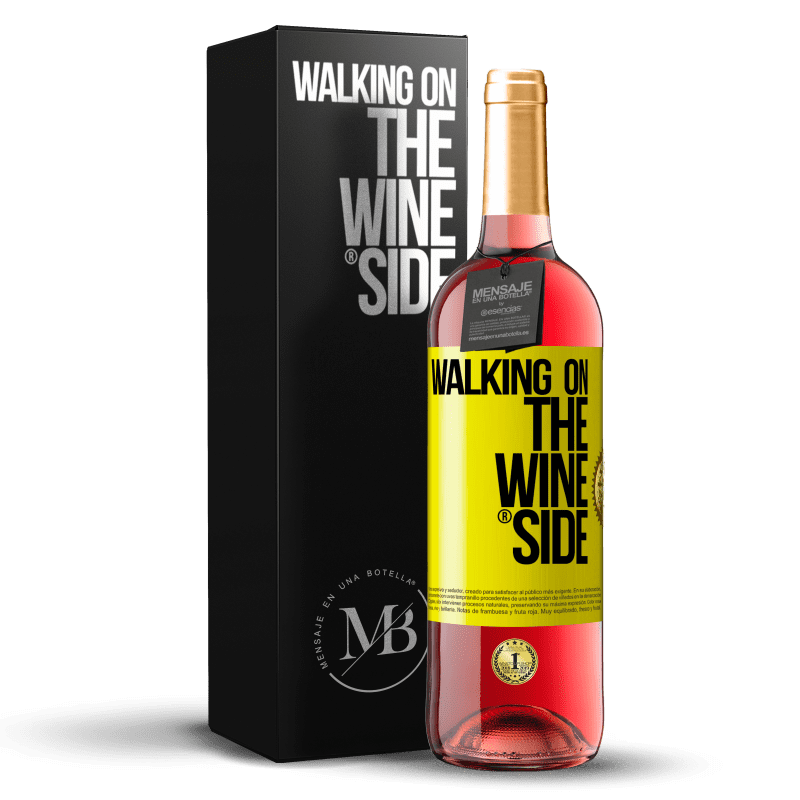 24,95 € Free Shipping | Rosé Wine ROSÉ Edition Walking on the Wine Side® Yellow Label. Customizable label Young wine Harvest 2020 Tempranillo