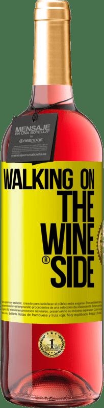 24,95 € Kostenloser Versand | Roséwein ROSÉ Ausgabe Walking on the Wine Side® Gelbes Etikett. Anpassbares Etikett Junger Wein Ernte 2020 Tempranillo
