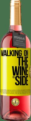 29,95 € Spedizione Gratuita | Vino rosato Edizione ROSÉ Walking on the Wine Side® Etichetta Gialla. Etichetta personalizzabile D.O. Cigales Vino giovane Raccogliere 2020 Spagna Tempranillo