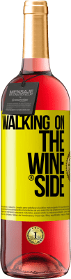 29,95 € 免费送货 | 桃红葡萄酒 ROSÉ版 Walking on the Wine Side® 黄色标签. 可自定义的标签 D.O. Cigales 青年酒 收成 2020 西班牙 Tempranillo