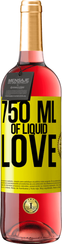 24,95 € Free Shipping | Rosé Wine ROSÉ Edition 750 ml of liquid love Yellow Label. Customizable label Young wine Harvest 2020 Tempranillo