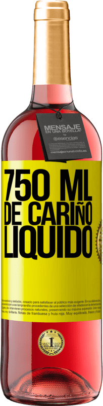 29,95 € Free Shipping | Rosé Wine ROSÉ Edition 750 ml of liquid love Yellow Label. Customizable label Young wine Harvest 2020 Tempranillo