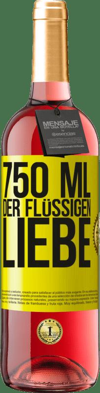24,95 € Kostenloser Versand | Roséwein ROSÉ Ausgabe 750 ml der flüssigen Liebe Gelbes Etikett. Anpassbares Etikett Junger Wein Ernte 2020 Tempranillo