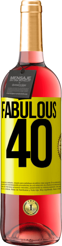 24,95 € Free Shipping | Rosé Wine ROSÉ Edition Fabulous 40 Yellow Label. Customizable label Young wine Harvest 2020 Tempranillo