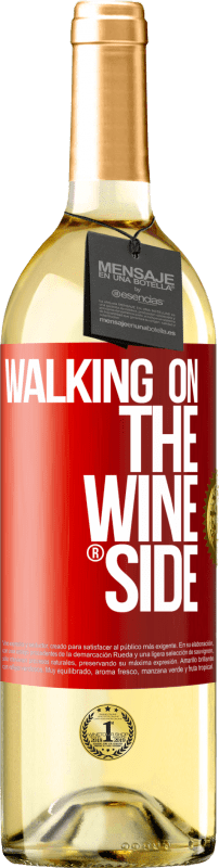 29,95 € Free Shipping | White Wine WHITE Edition Walking on the Wine Side® Red Label. Customizable label Young wine Harvest 2020 Verdejo