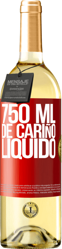 29,95 € Free Shipping | White Wine WHITE Edition 750 ml of liquid love Red Label. Customizable label Young wine Harvest 2020 Verdejo