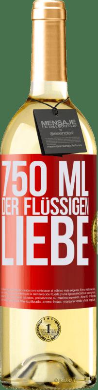24,95 € Kostenloser Versand | Weißwein WHITE Ausgabe 750 ml der flüssigen Liebe Rote Markierung. Anpassbares Etikett Junger Wein Ernte 2020 Verdejo