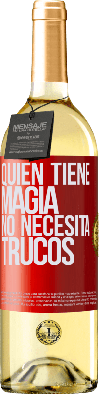 29,95 € Free Shipping | White Wine WHITE Edition Whoever has magic does not need tricks Red Label. Customizable label Young wine Harvest 2020 Verdejo