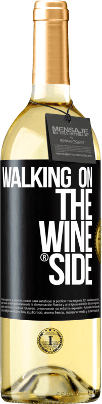 29,95 € Free Shipping | White Wine WHITE Edition Walking on the Wine Side® Black Label. Customizable label D.O. Rueda Young wine Harvest 2020 Spain Verdejo