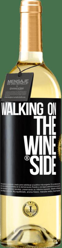 24,95 € Envío gratis | Vino Blanco Edición WHITE Walking on the Wine Side® Etiqueta Negra. Etiqueta personalizable Vino joven Cosecha 2020 Verdejo