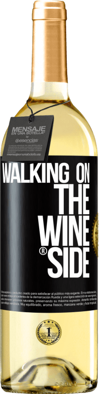29,95 € Free Shipping | White Wine WHITE Edition Walking on the Wine Side® Black Label. Customizable label Young wine Harvest 2020 Verdejo