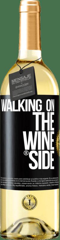 24,95 € Kostenloser Versand | Weißwein WHITE Ausgabe Walking on the Wine Side® Schwarzes Etikett. Anpassbares Etikett Junger Wein Ernte 2020 Verdejo