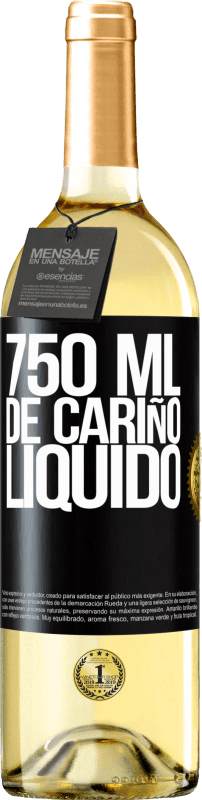 29,95 € Free Shipping | White Wine WHITE Edition 750 ml of liquid love Black Label. Customizable label Young wine Harvest 2020 Verdejo