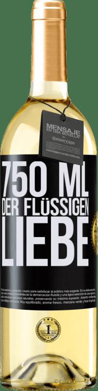 24,95 € Kostenloser Versand | Weißwein WHITE Ausgabe 750 ml der flüssigen Liebe Schwarzes Etikett. Anpassbares Etikett Junger Wein Ernte 2020 Verdejo