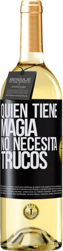 29,95 € Free Shipping | White Wine WHITE Edition Whoever has magic does not need tricks Black Label. Customizable label Young wine Harvest 2020 Verdejo