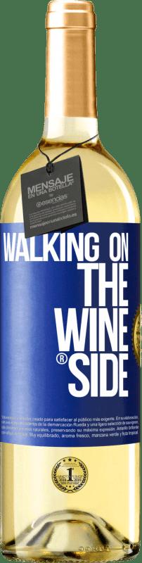 24,95 € Kostenloser Versand | Weißwein WHITE Ausgabe Walking on the Wine Side® Blaue Markierung. Anpassbares Etikett Junger Wein Ernte 2020 Verdejo