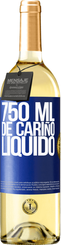 29,95 € Free Shipping | White Wine WHITE Edition 750 ml of liquid love Blue Label. Customizable label Young wine Harvest 2020 Verdejo