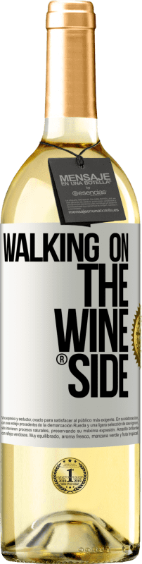29,95 € Free Shipping | White Wine WHITE Edition Walking on the Wine Side® White Label. Customizable label D.O. Rueda Young wine Harvest 2020 Spain Verdejo