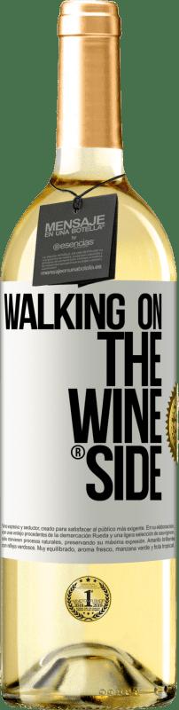 24,95 € Envío gratis | Vino Blanco Edición WHITE Walking on the Wine Side® Etiqueta Blanca. Etiqueta personalizable Vino joven Cosecha 2020 Verdejo
