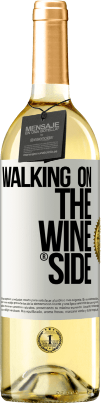 29,95 € Free Shipping | White Wine WHITE Edition Walking on the Wine Side® White Label. Customizable label Young wine Harvest 2020 Verdejo