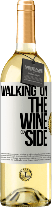 24,95 € Kostenloser Versand | Weißwein WHITE Ausgabe Walking on the Wine Side® Weißes Etikett. Anpassbares Etikett Junger Wein Ernte 2020 Verdejo
