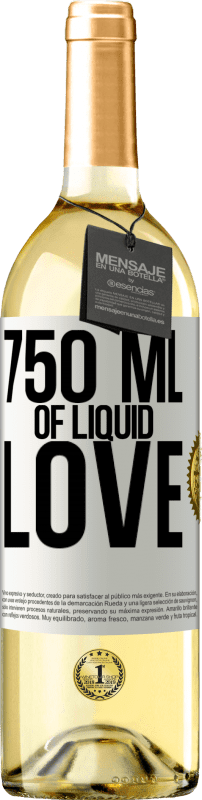 24,95 € Free Shipping | White Wine WHITE Edition 750 ml of liquid love White Label. Customizable label Young wine Harvest 2020 Verdejo