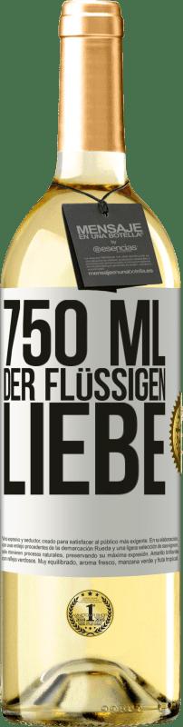 24,95 € Kostenloser Versand | Weißwein WHITE Ausgabe 750 ml der flüssigen Liebe Weißes Etikett. Anpassbares Etikett Junger Wein Ernte 2020 Verdejo