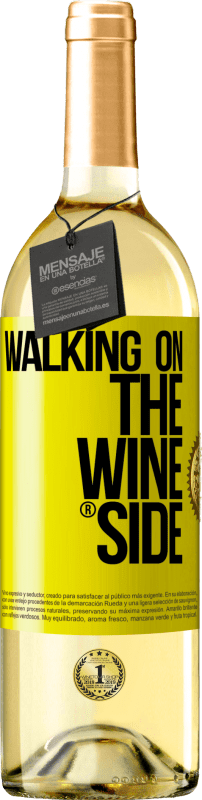 29,95 € Free Shipping | White Wine WHITE Edition Walking on the Wine Side® Yellow Label. Customizable label D.O. Rueda Young wine Harvest 2020 Spain Verdejo