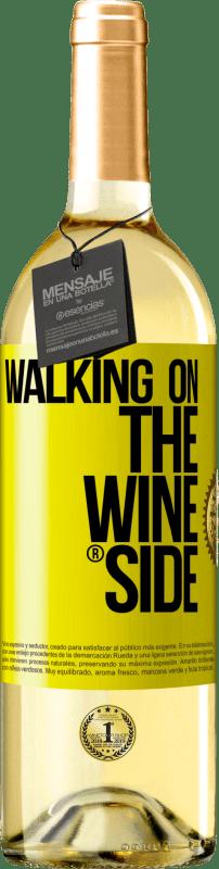 24,95 € Envío gratis | Vino Blanco Edición WHITE Walking on the Wine Side® Etiqueta Amarilla. Etiqueta personalizable Vino joven Cosecha 2020 Verdejo