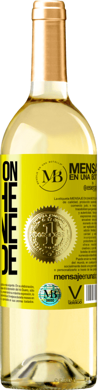 29,95 € Free Shipping | White Wine WHITE Edition Walking on the Wine Side® Yellow Label. Customizable label Young wine Harvest 2020 Verdejo