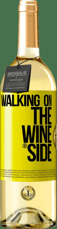 24,95 € Kostenloser Versand | Weißwein WHITE Ausgabe Walking on the Wine Side® Gelbes Etikett. Anpassbares Etikett Junger Wein Ernte 2020 Verdejo