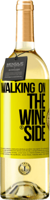 18,95 € Бесплатная доставка | Белое вино Walking on the Wine Side® Желтая этикетка. Пользовательский ярлык D.O. Rueda Молодое вино Урожай 2019 Испания Verdejo