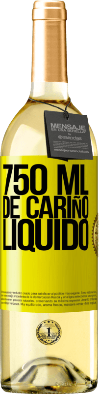 29,95 € Free Shipping | White Wine WHITE Edition 750 ml of liquid love Yellow Label. Customizable label Young wine Harvest 2020 Verdejo