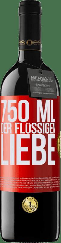 24,95 € Kostenloser Versand | Rotwein RED Ausgabe Crianza 6 Monate 750 ml der flüssigen Liebe Rote Markierung. Anpassbares Etikett Ausbau in Eichenfässern 6 Monate Ernte 2018 Tempranillo