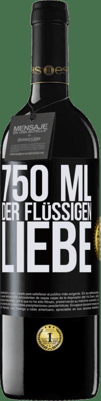 24,95 € Kostenloser Versand | Rotwein RED Ausgabe Crianza 6 Monate 750 ml der flüssigen Liebe Schwarzes Etikett. Anpassbares Etikett Ausbau in Eichenfässern 6 Monate Ernte 2018 Tempranillo