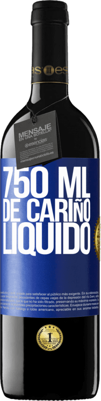 29,95 € Free Shipping | Red Wine RED Edition Crianza 6 Months 750 ml of liquid love Blue Label. Customizable label Aging in oak barrels 6 Months Harvest 2018 Tempranillo