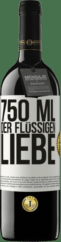 24,95 € Kostenloser Versand | Rotwein RED Ausgabe Crianza 6 Monate 750 ml der flüssigen Liebe Weißes Etikett. Anpassbares Etikett Ausbau in Eichenfässern 6 Monate Ernte 2018 Tempranillo