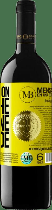 18,95 € Free Shipping   Red Wine Walking on the Wine Side® Yellow Label. Customized label I.G.P. Vino de la Tierra de Castilla y León Aging in oak barrels 6 Months Harvest 2018 Spain Tempranillo